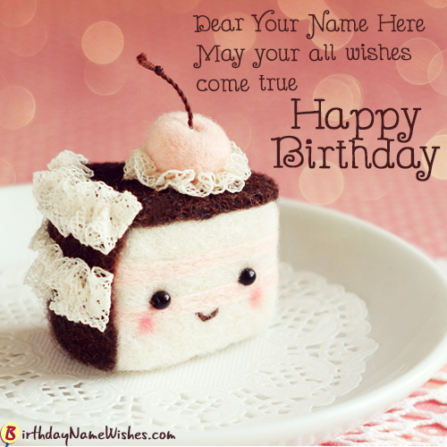 Birthday Wishes Cupcake With Name Generator