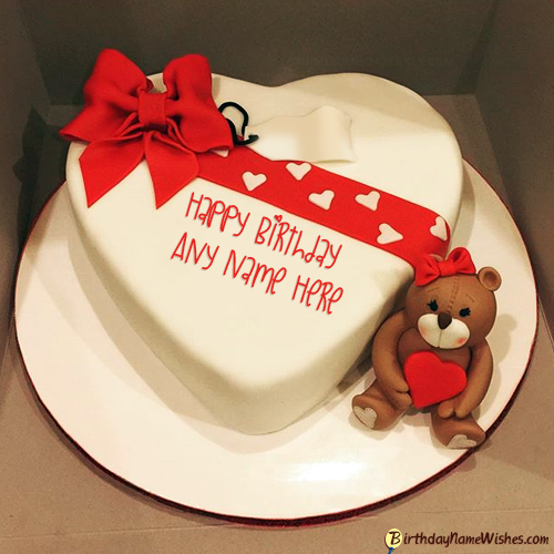 Cutest Birthday Cake For Lover With Name