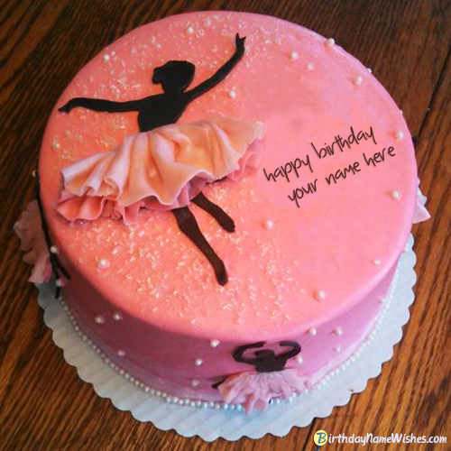Download Beautiful Dancing Girl Name Birthday Cake