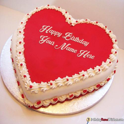 Heart Shape Romantic Birthday Cakes For Boyfriend