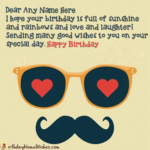 Love Magical Birthday Wishes Quotes With Name Maker