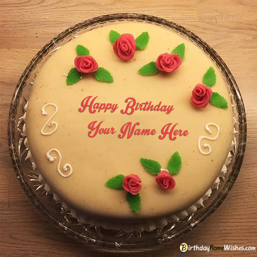 Romantic Red Roses Birthday Cake For Boyfriend Online