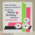 Beautiful Name Birthday Wishes For Girlfriend