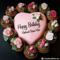 Heart Birthday Cake For Husband Name Generator