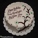 Homemade Birthday Cake For Sister With Name Editor