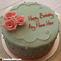 Roses Birthday Cake For Sister With Name Images