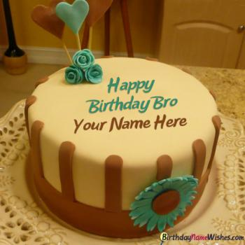 Happy Birthday Cakes For Brother With Name