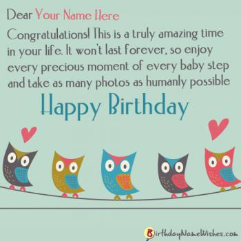 Colorful Birthday Wishes With Name Editing
