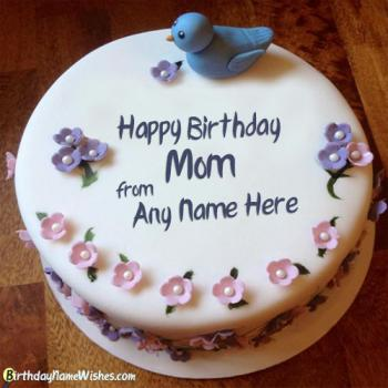 Create Online Happy Birthday Cake For Mother With Name