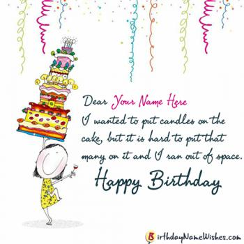 Funny Happy Birthday Wishes For Girls With Name Editing