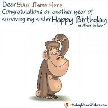 Funny Name Birthday Greetings For Brother In Law