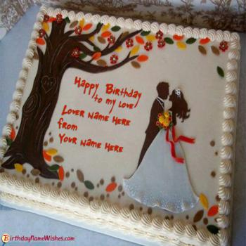 Birthday Cake Pics For Lovers : Happy Birthday Cakes For Lover With Name