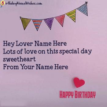 Happy Birthday Wishes For Lover With Name Images