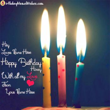 Romantic Birthday Wishes For Lovers With Name Editing