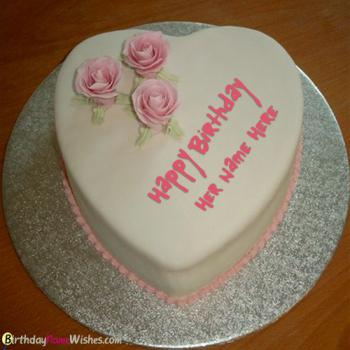 Romantic Heart Name Birthday Cake Images For Girlfriend