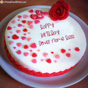 Romantic Name Birthday Cake For Lover Generator
