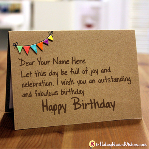 Beautiful Birthday Wishes With Name Editor