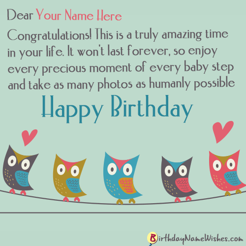 Happy Birthday Wishes With Name Editor