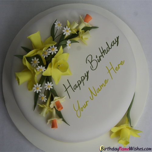 Create Birthday Cakes For Friend With Name Online
