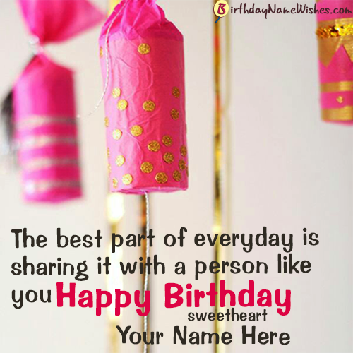 Cute Birthday Messages For Girlfriend With Name