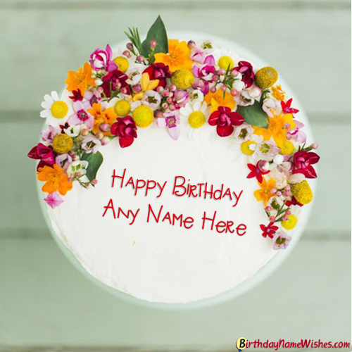 Happy Birthday Cake With Name Generator
