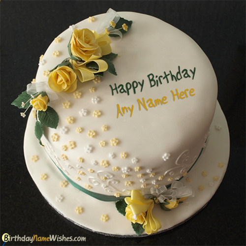 Happy Birthday Cake For Girls With Name Writing