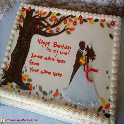 Birthday Cake Images For Lover : Happy Birthday Cake With Name Generator12