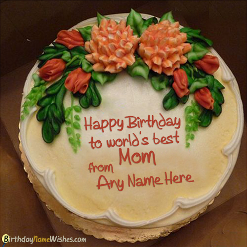 Outstanding Lovely Birthday Cake For Mom With Name Generator Personalised Birthday Cards Akebfashionlily Jamesorg