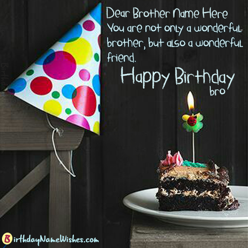 Name Birthday Wishes Quotes For Brother Images