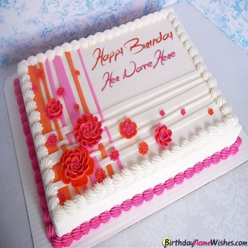 Happy Birthday Cake With Name Editing