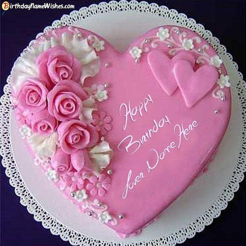 Birthday Cake Pics For Lovers : Roses Birthday Cake For Lover Images With Name